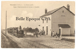 37 - NOUANS - La Gare 1908 - Ligne Départementale De Loches à Écueillé / TRAIN ++++ Vve Castille, Dépositaire ++ - Autres Communes