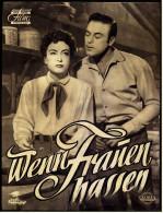 """Das Neue Film-Programm Von Ca. 1954  -  """"Wenn Frauen Hassen""""  -  Mit Joan Crawford , Sterling Hayden - Magazines"""