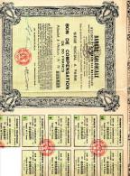 """Banque Coloniale  Action """"A"""" Au Porteur De 50frs--1931 - Banque & Assurance"""