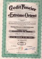 Crédit Foncier D'Extrême-Orient - Action Ordinaire De 250 Francs - Banque & Assurance