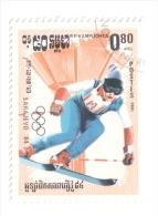 REPUBBLICA KAMPUCHEA 1984 OLIMPIADI SARAJEVO USATO - Kampuchea