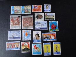 Sri Lanka  1970 -71    Lot De 19 Timbres Oblit. Y/T Entre N° 443 Et 483 - Sri Lanka (Ceylan) (1948-...)