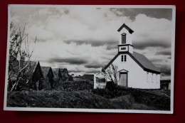 1955 KELDUR. A Typical Old Icelandic Farm A A Parish Church, Iceland - Islanda