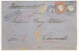 Deutsches Reich Michel No. 19 , 20 auf Brief