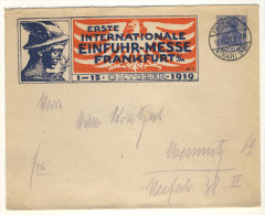 Deutsches Reich Privat Ganzsache gebraucht / Einfuhr Messe Frankfurt 1919