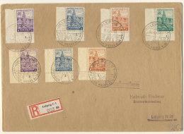 West Sachsen Michel No. 162 - 165 A X / 162 - 164 Z auf Brief