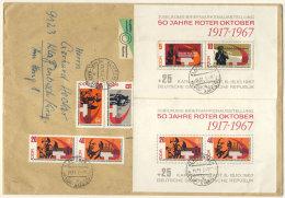 DDR Michel No. 1312 - 1316 , Block 26 auf Brief