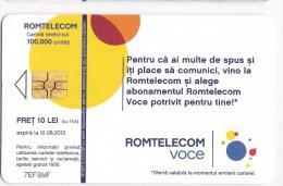 Romania   , Phonecards   , 2012 ,   Used - Romania