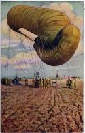 ARMEE BELGIQUE Ballon Captif Sur Le Front Guerre 1914-1918 Moulin état Superbe - Equipment