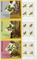 CROATIA 2002 Oak Trees Booklets Of 10 Stamps MNH / **.  Michel 615-17, MH5-7 - Croatia