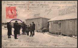 DB3446 - KARUNGI STATIONSSAMHÄLLE 1915 - BANK OCH AFFÄRSLOKALER - Zweden