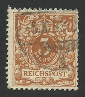 Germany, 3 Pf. 1889, Sc # 46a, Mi # 45, Used - Germany