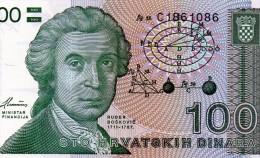 NEUF : BILLET DE 100 DINARS CROATES - CROATIE - 1991 - Croatie