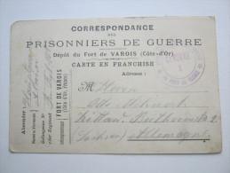 Fort De Varois   , Carte Prisonner De Guerre  Alllemagne,  2 Scans  !! - Marcofilia (sobres)