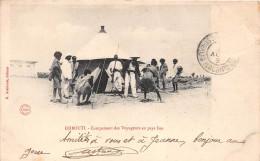 ¤¤  -   DJIBOUTI   -  Campement Des Voyageurs En Pays ISSA     -  ¤¤ - Gibuti