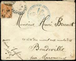 FRANCE - TIMBRE DE FRANCHISE N° 1 SUR LETTRE DU 28éme R.I. DE PARIS LE 7/10/1901 POUR BONDEVILLE - B - Franchise Militaire (timbres)