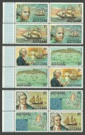AITUTAKI COOK ISLANDS 1974 SHIPS EXPLORERS BLIGH COOK TETE BECHE SET MNH - Aitutaki