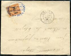 FRANCE - TIMBRE DE FRANCHISE N° 1 / ANNULÉ ETAT MAJOR DES PLACES , DE SALINS LE 24/11/1902 POUR LA CLAYETTE - TB - Franchise Militaire (timbres)