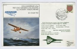 JERSEY  -  AMELIA EARHART  -   50th Anniversario Prima Donna Traversata Atlantico Solo - Airplanes