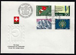 A0354 SWITZERLAND 1970, SG 797-800 Publicity, Souvenir Cover London Philympia Exhibition - Covers & Documents