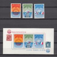 Nederlandse Antillen Antilles 1982,3V+block,Philexfrance '82,exhibition,exposition ,MH/O Ngebruikt(A1525) - Wereldtentoonstellingen
