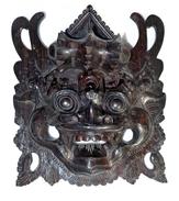 INDONESIA: Old Indonesian Mask Carved In Black Wood - Hardwood - Arte Asiatica