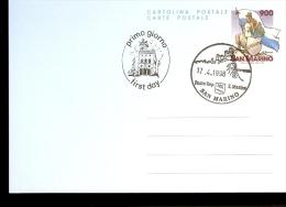 CARTOLINA POSTALE REPUBBLICA DI SAN MARINO FDC 1998 - Castles