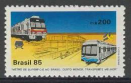 Brazil Brasil 1985 Mi 2093 YT 1715 ** Rapid Transit Systems In Porto Alegre, Rio Grande Do Sul And Recife, Pernambuco - Bussen
