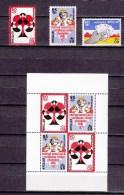 Nederlandse Antillen Antilles 1977,3V+block,playing Cards.speelkaarten,spielkarten,cartes à Jouer,MH/O Ngebruikt(A1528) - Spiele
