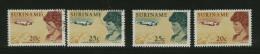 SURINAME  -  AMELIA EARHART  - NUOVI MNH - Airplanes
