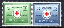 Pakistan 1959 Red Cross Set Of 2, MNH (D) - Pakistan