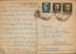 Italia - Cartolina Postale Interi Postali Con Risposta,  Circolato Per Posta, Da Milano A Bucarest Nel 1938 - 30 Cent - Ganzsachen