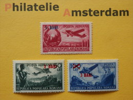 Romania 1952, OVERPRINT / AIRPLANES AVIONS VLIEGTUIGEN FLUGZEUGE: Mi A 1363-64, ** - Airplanes
