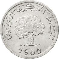 Tunisie, République, 1 Millim 1960, KM 280 - Tunisie