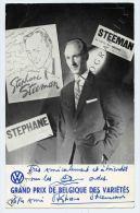 """Stéphane Steeman, Autographe/dédicace """"Grand Prix De Belgique Des Variétés"""" - Autographs"""