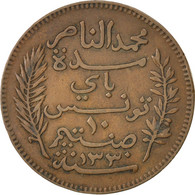 [#43080] Tunisie, Muhammad Al-Nasir Bey, 10 Centimes 1912 A, KM 236 - Tunisie