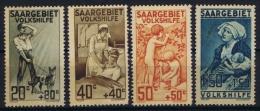 Saar 1927  Yvert Nr 103 - 106 , Mi 122 -  125 MNH/** - 1920-35 League Of Nations