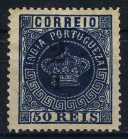 Portuguese India:  Yvert Nr 101 MH/*  Fournier Forgery - Portugiesisch-Indien
