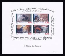 FRANCE BLOC-FEUILLET ND AVEC GOMME BLOC N° 17 ** 1er Siècle Du Cinéma. Cote 500 €. TTB - Blocs & Feuillets