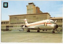 CPM Espagne MADRID Aéroport De Barajas Aeopuerto Avion Compagnie IBERIA Navette Bus Airport Airplane - Aérodromes