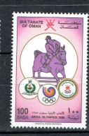 OMAN OLYMPIC GAMES SEOUL 1988  EQUESTRIAN HORSE HORSES - Summer 1988: Seoul