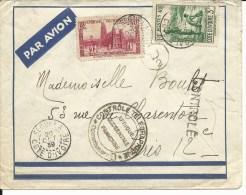 """De Seguela Cote D´Ivoire Popur Paris N° 121, 132 """"controle Télégraphique.."""" D´Abidjan """"D2"""" Et Rare Griffe """"Controlé"""" - Storia Postale"""