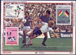 Bolivia 1989 CEFIBOL 1328 ** Mundial De Fútbol Italia 90. See Description. - Bolivia