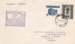 Poland 1958 First Flight Warsaw-Poznan By British European Airways - 1944-.... Republic