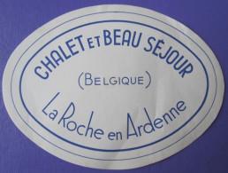 HOTEL BEAU SEJOUR LA ROCHE DE AEDENNE BELGIE BELGIUM BELGIQUE TAG DECAL STICKER LUGGAGE LABEL ETIQUETTE AUFKLEBER - Hotel Labels