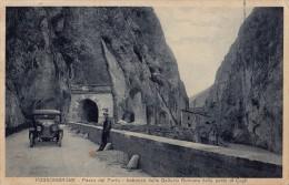 FOSSOMBRONE : PASSO Del FURLO - IMBOCCO Della GELERIA ROMANA... - AUTOMOBILE / CAR On ROAD - ANNÉE / YEAR ~ 1910 (r-523) - Pesaro