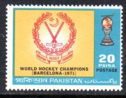 Pakistan 1971 Hockey Championships Victory, MNH (D) - Pakistan