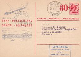 Switzerland 1959 First Flight Geneve-Frankfurt By Lufthansa - Switzerland