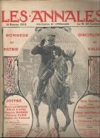 journal LES ANNALES , Joffre , autographe , une soir�e chez Guillame II , militaria , 14 f�vrier 2015 , frais fr : 2.50�