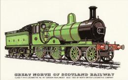 Railway Postcard Great North Of Scotland 49 Gordon Highlander LNER D40 GNoS Loco - Trains